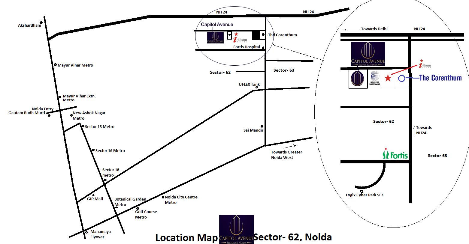 Capitol Avenue locationmap