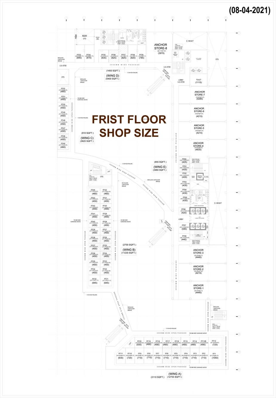 Capitol Avenue Shops Size